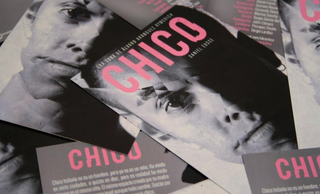 Diseño Cartel Obra de teatro CHICO de Álvaro Aránguez